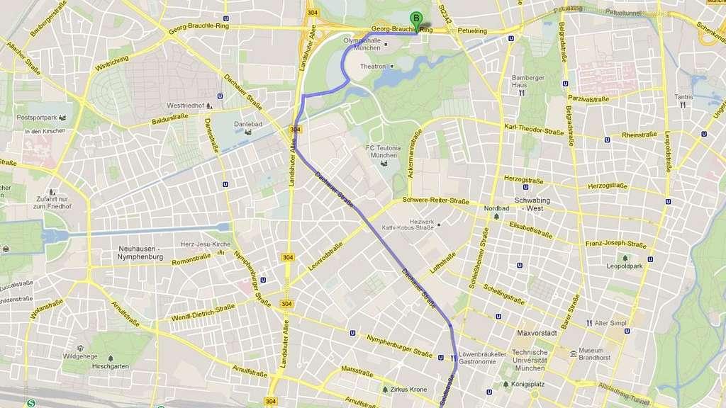 München: Schnelle Reiseplanung in München mit Hilfe von Google Maps on