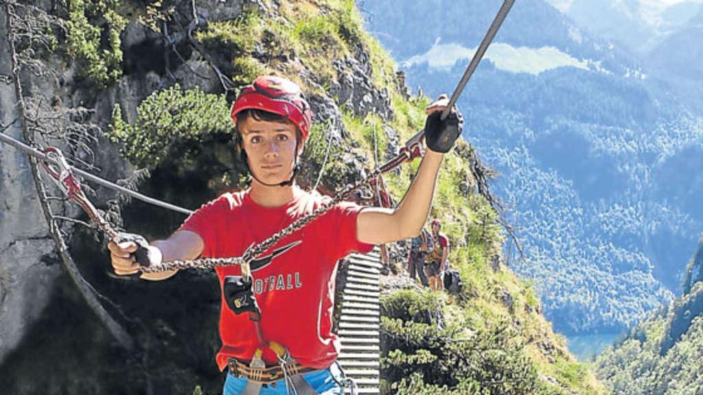 Klettersteigset Sportler : Gemeinsames familienabenteuer im klettersteig outdoor