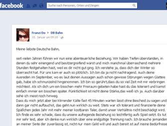 Bahn Kundin Macht Per Facebook Schluss Welt