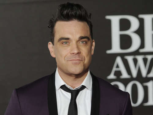 Robbie Williams zeigt seine Mode in Berlin