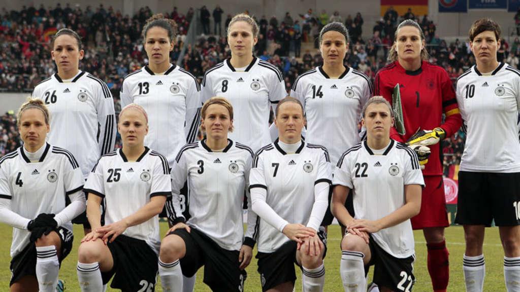 Deutsche Damennationalmannschaft Trifft In Der Allianz Arena