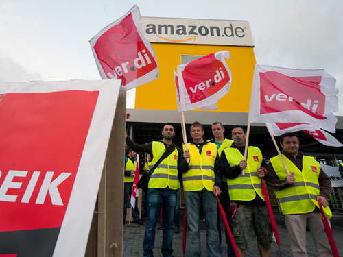 Dreitägiger Streik bei Amazon in Bad Hersfeld