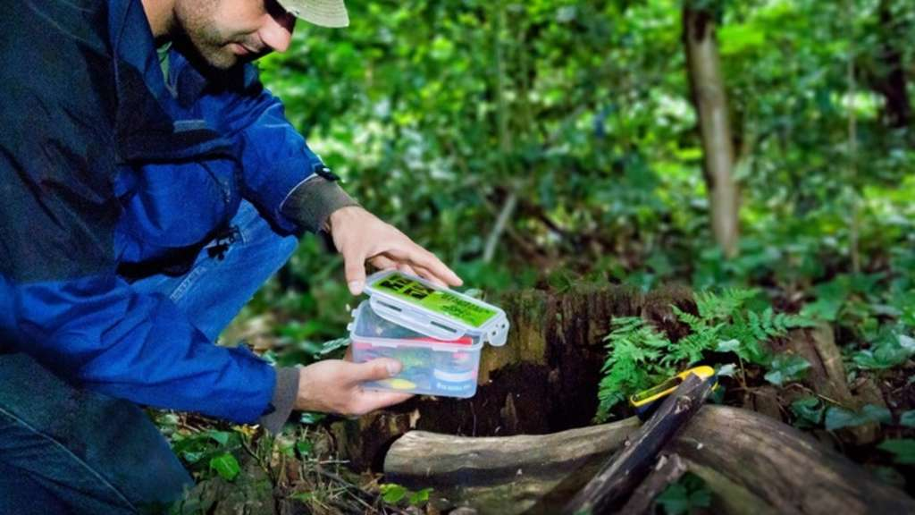 Geocaching in der Natur
