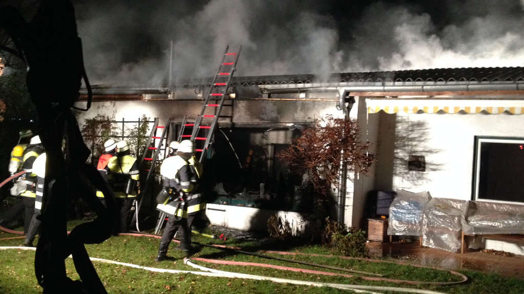 Bungalow Feuer Brand