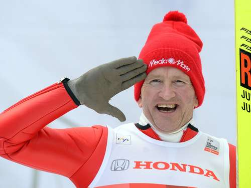 "Fans feiern ""Eddie the Eagle"" in Oberstdorf"