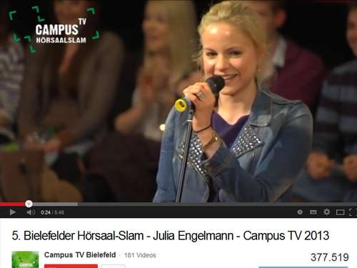 Julia Engelmann landet YouTube-Hit