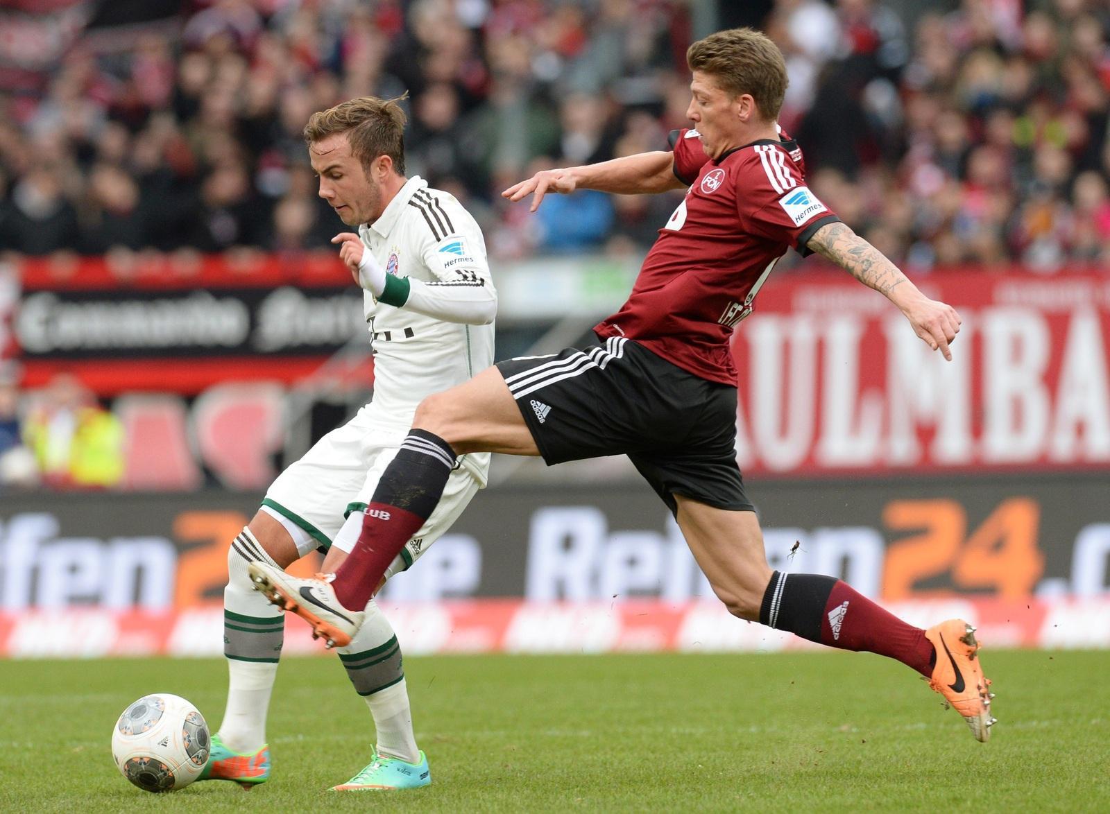 83442fb1809 Spielbericht  FC Bayern beim 1. FC Nürnberg Bundesliga 20. Spieltag ...