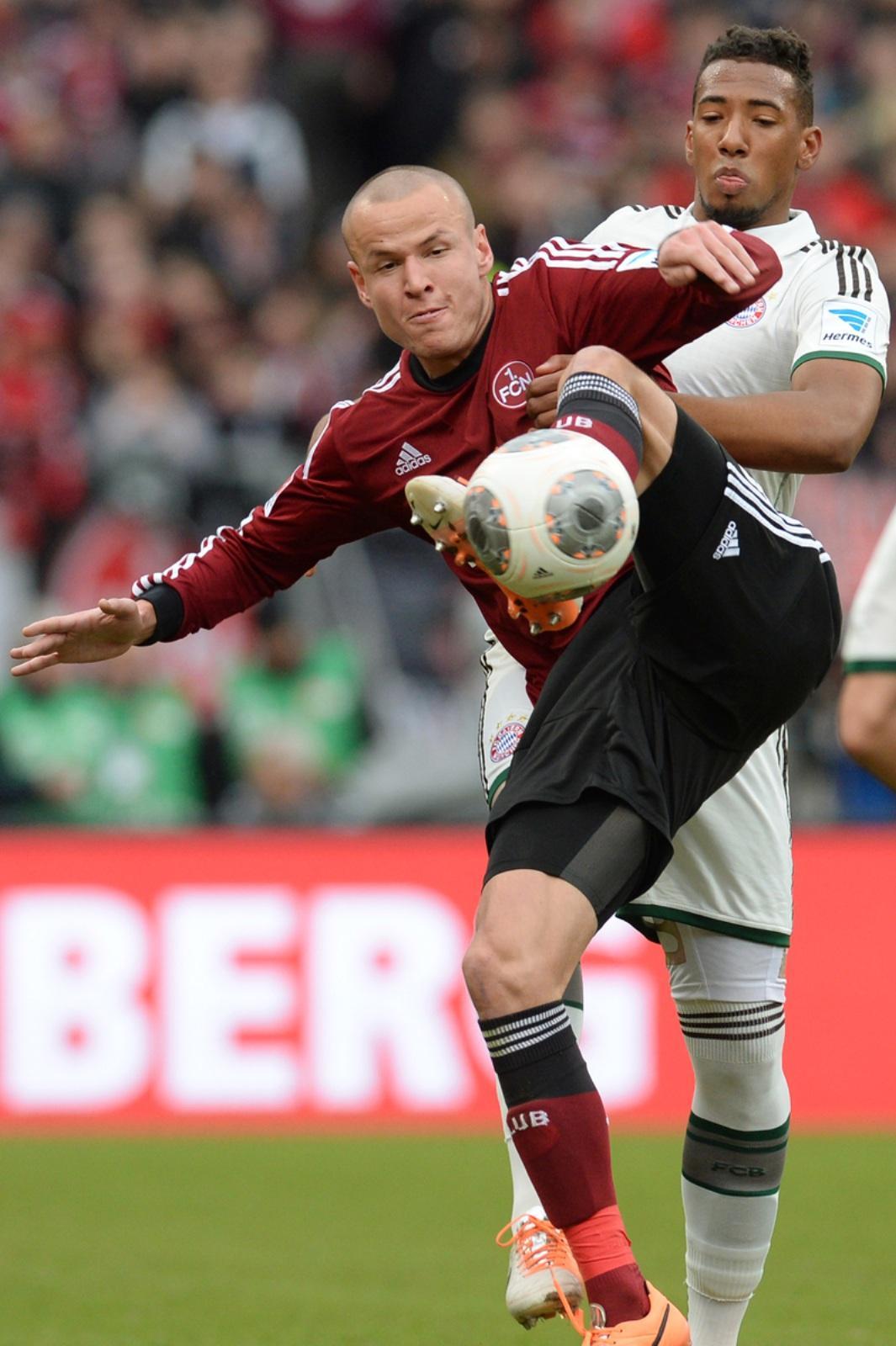 f7be030e1f8 AFP Die Bayern haben das umkämpfte Derby gegen den 1. FC Nürnberg gewonnen.  Sehen Sie hier Bilder vom Spiel und im Anschluss die Noten.