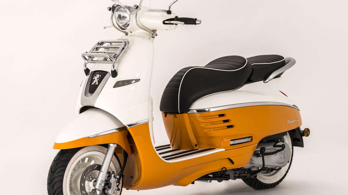 cooler retro roller peugeot django motorrad. Black Bedroom Furniture Sets. Home Design Ideas
