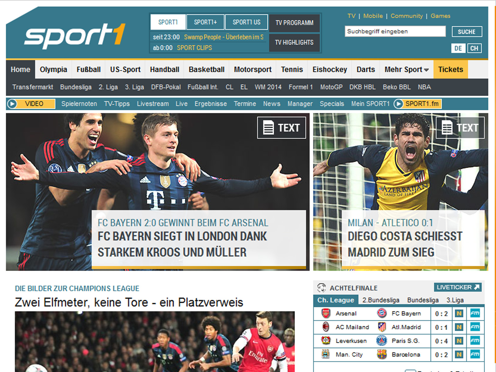 Pressestimmen Bayern Arsenal