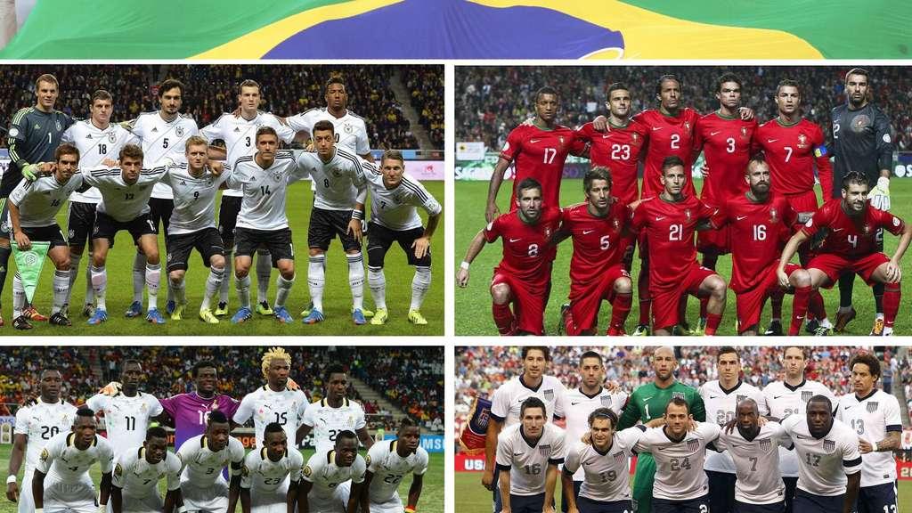 Wm 2014 Spielplan Mit Anstosszeiten Der Gruppe G Fussball