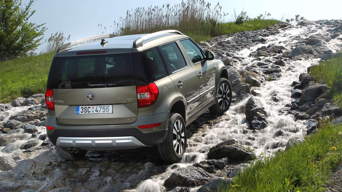 mit dem skoda yeti 4x4 im gel nde test auto. Black Bedroom Furniture Sets. Home Design Ideas
