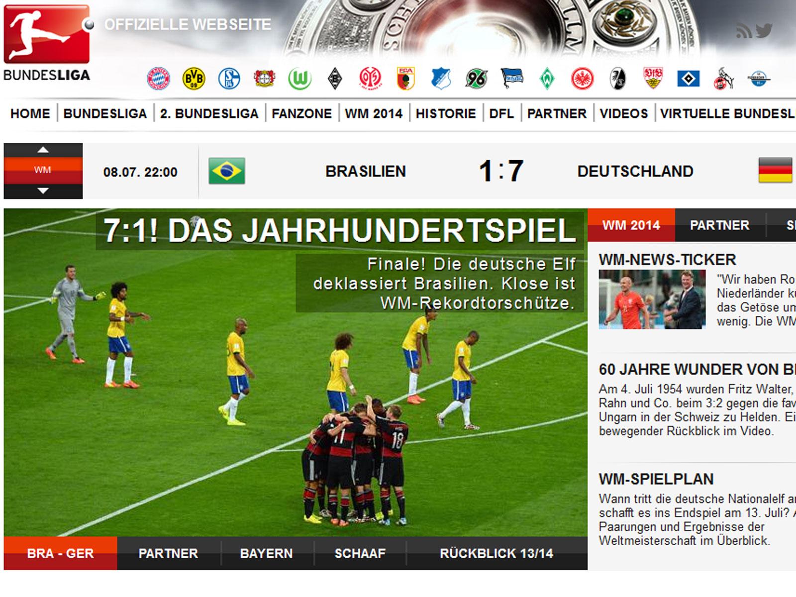 brasilien gegen deutschland wm