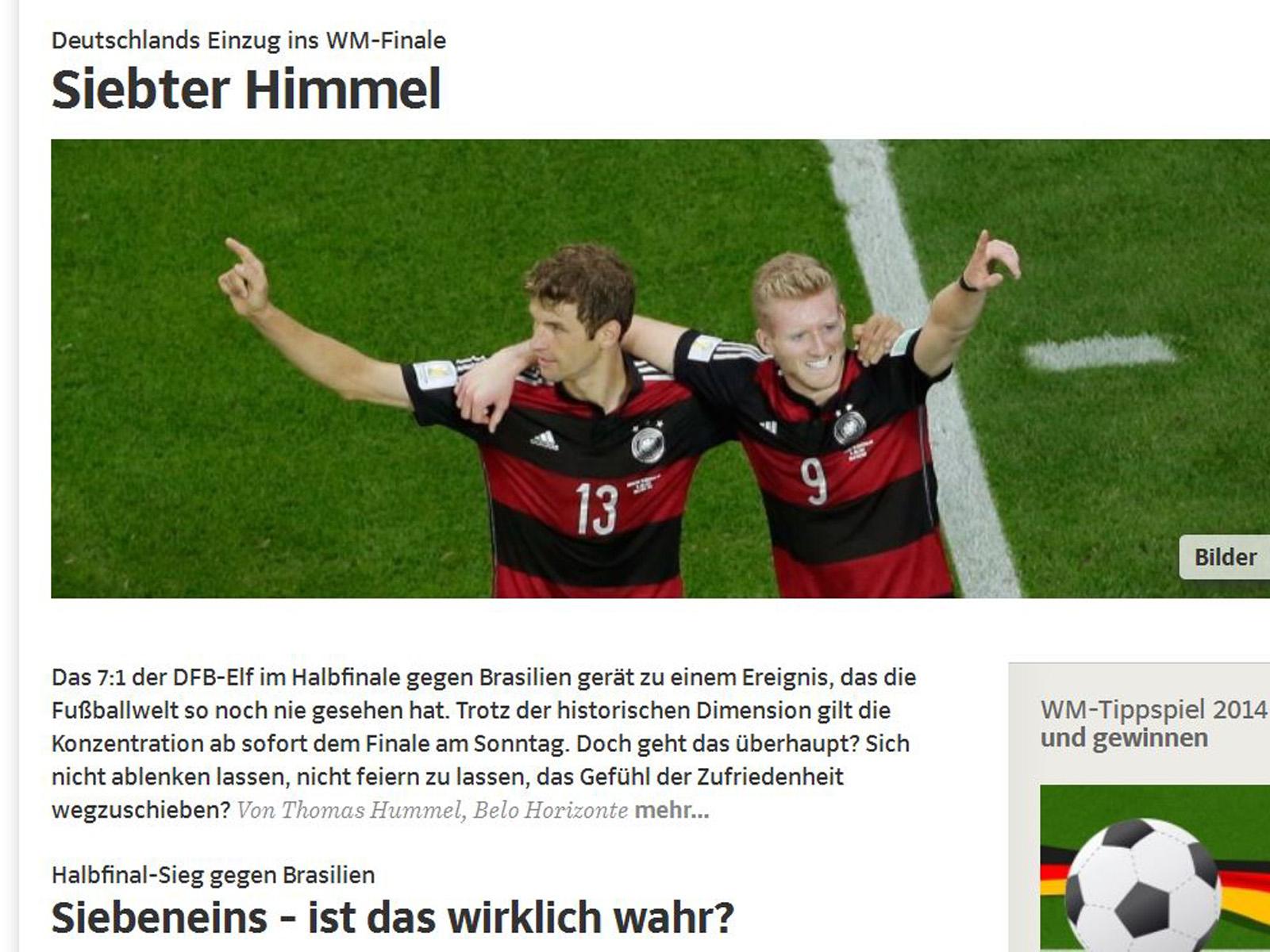 halbfinale deutschland gegen brasilien