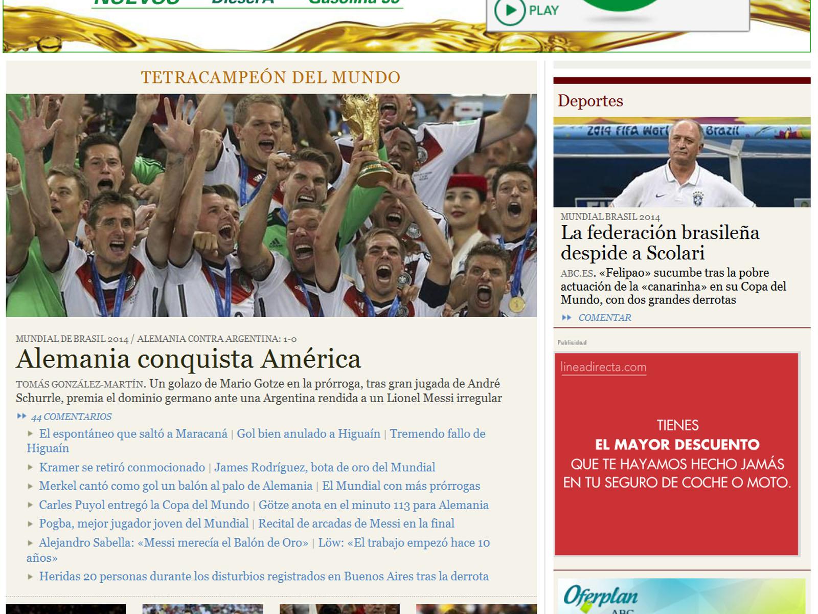 Internationale Pressestimmen Zum Sieg Von Deutschland Im Wm Finale