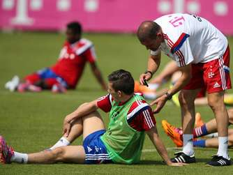 FC Bayern, US-Tour, Sender im Training