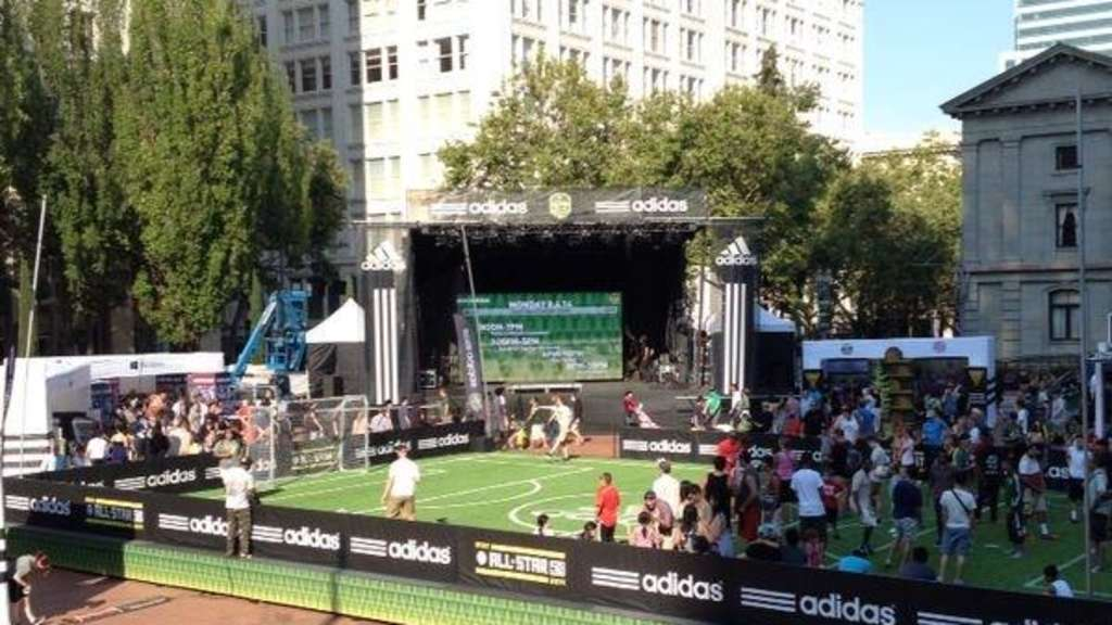 Fußballparty in Portland