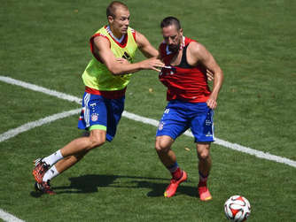 FC Bayern US-Tour Badstuber Ribery Training
