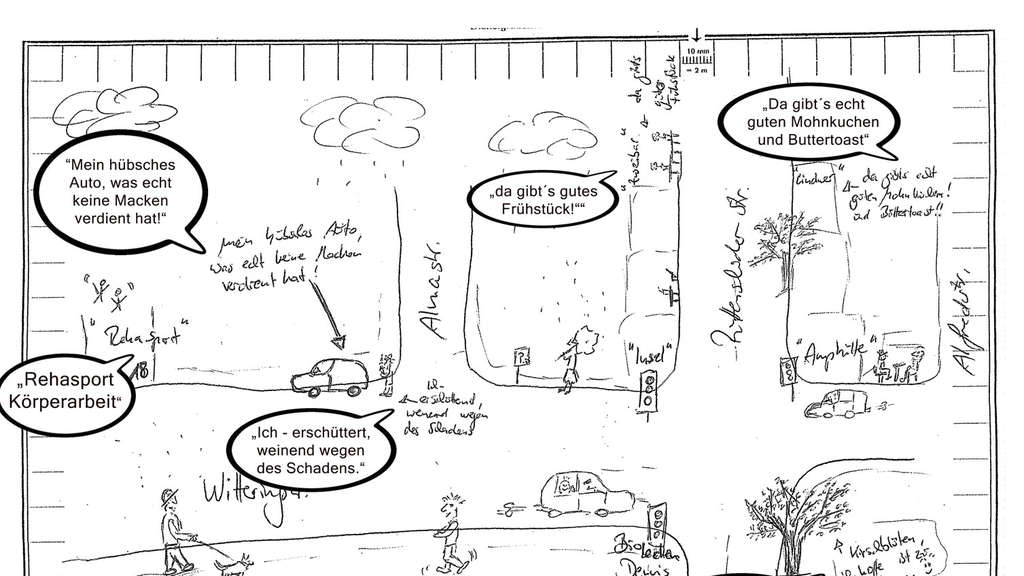 Polizei fahndet mit lustiger Skizze vom Unfall nach Verursacher ...