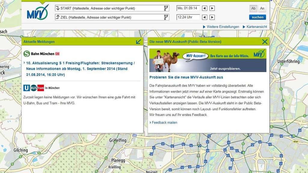Neue Mvv Fahrplanauskunft Testversion Ist Online Mvv München