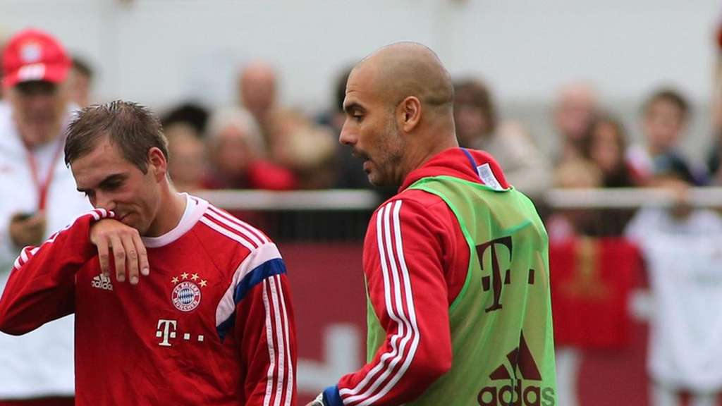 Philipp Lahm, Pep Guardiola