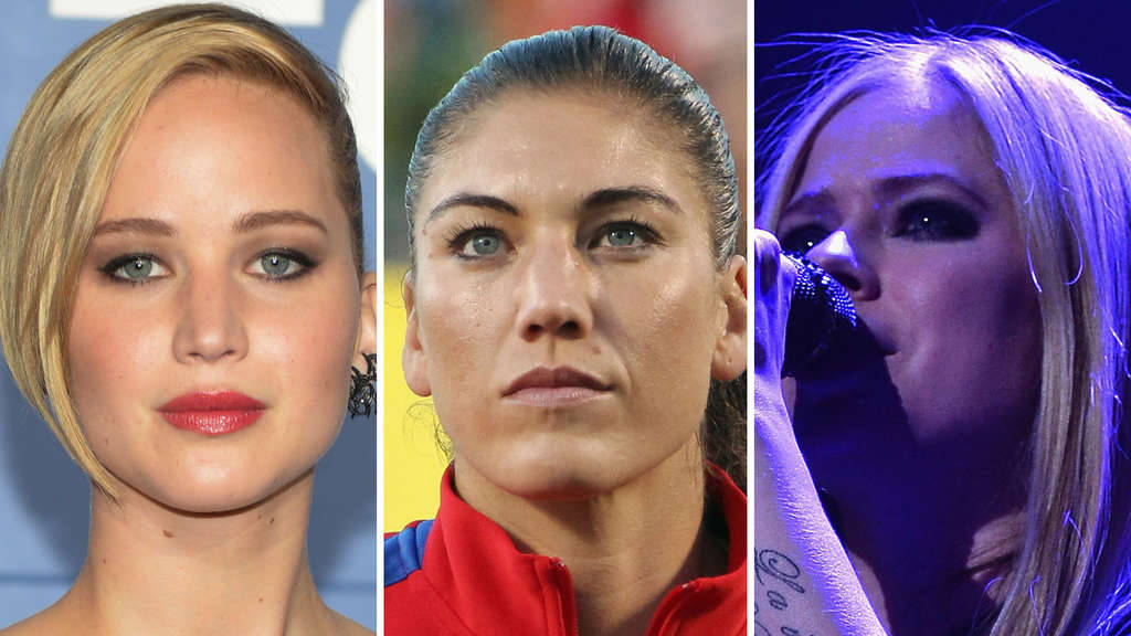 Jennifer Lawrence, Hope Solo und Avril Lavigne