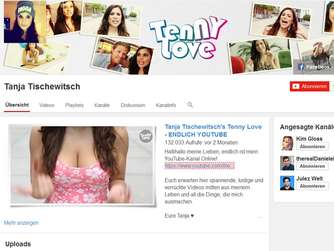 Tanja Tischewitsch, YouTube