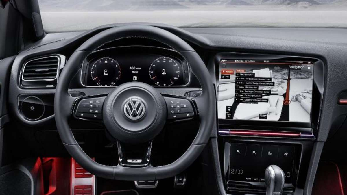 vw golf r touch cockpit der zukunft auf der ces 2015 auto. Black Bedroom Furniture Sets. Home Design Ideas
