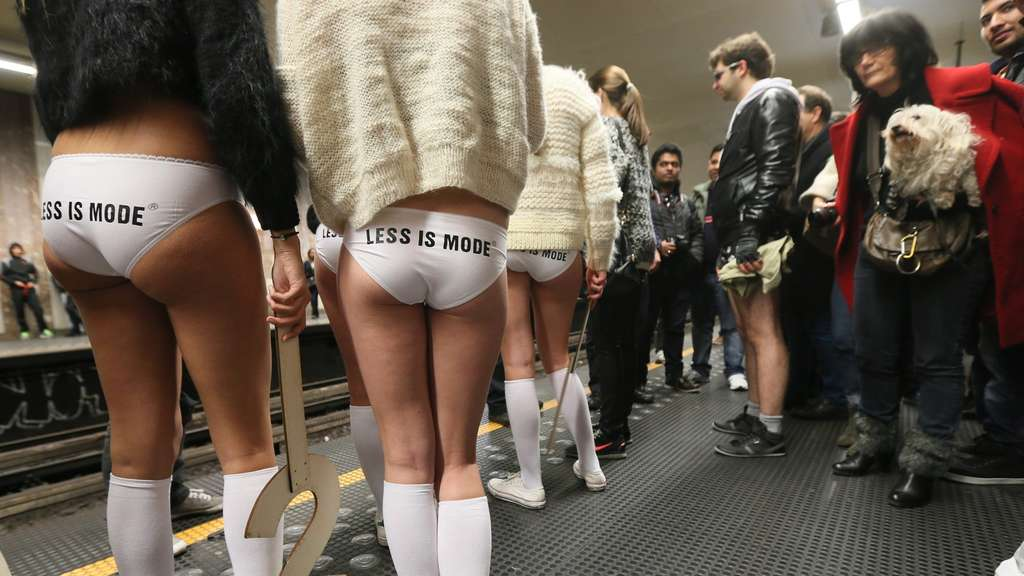 """No Pants Subway Ride"""