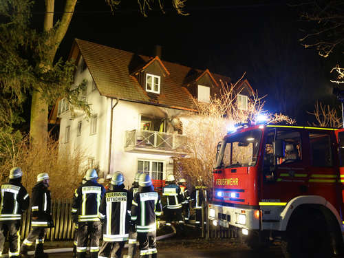 Wohnungsbrand in Attaching: Bilder