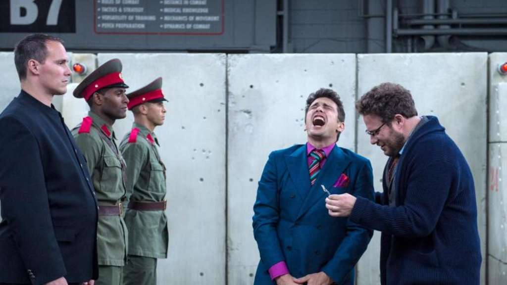 Chaos in Nordkorea mit Aaron (Seth Rogen, r) und Dave (James Franco). Foto: Columbia Pictures/Sony