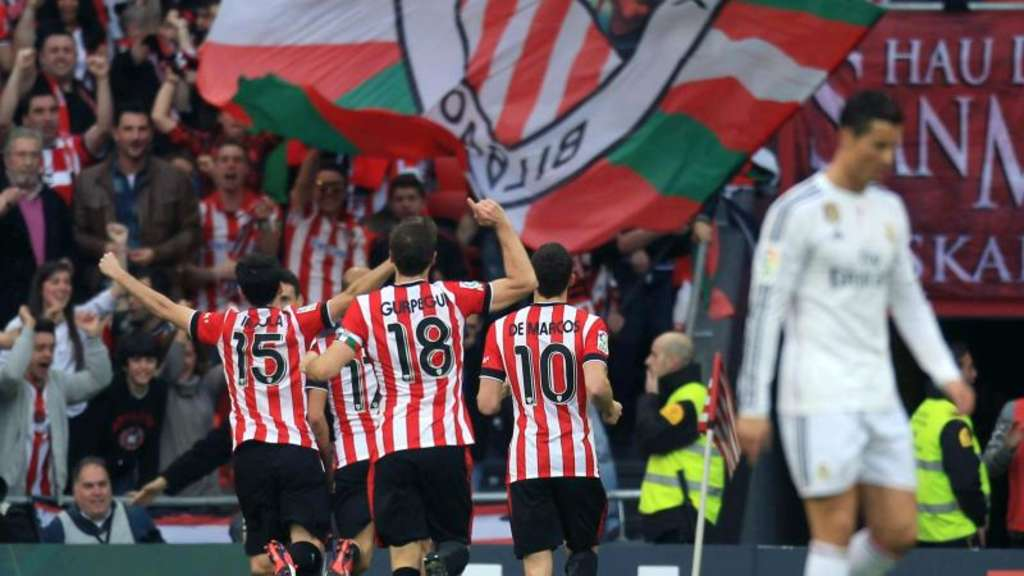 Athletic Bilbao schlägt Real Madrid mit 1:0. Foto: Luis Tejido