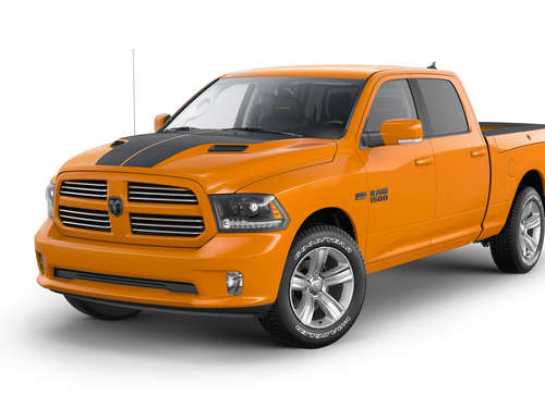 Dicker Ram 1500 Pickup im Sport-Outfit