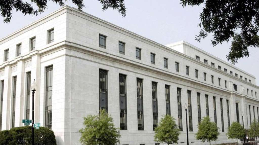 Blick auf das Gebäude der US-Notenbank Federal Reserve (Fed) in Washington. Foto: Matthew Cavanaugh