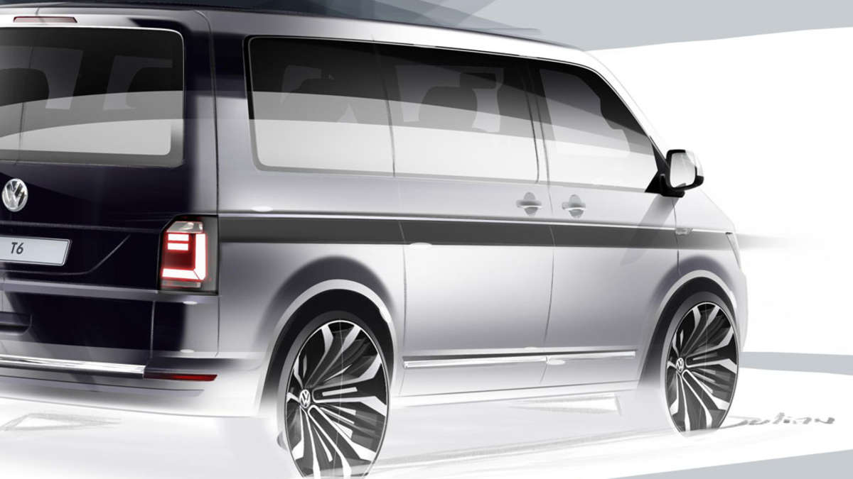 vw bulli t6 designskizze vom neuen vw transporter auto. Black Bedroom Furniture Sets. Home Design Ideas