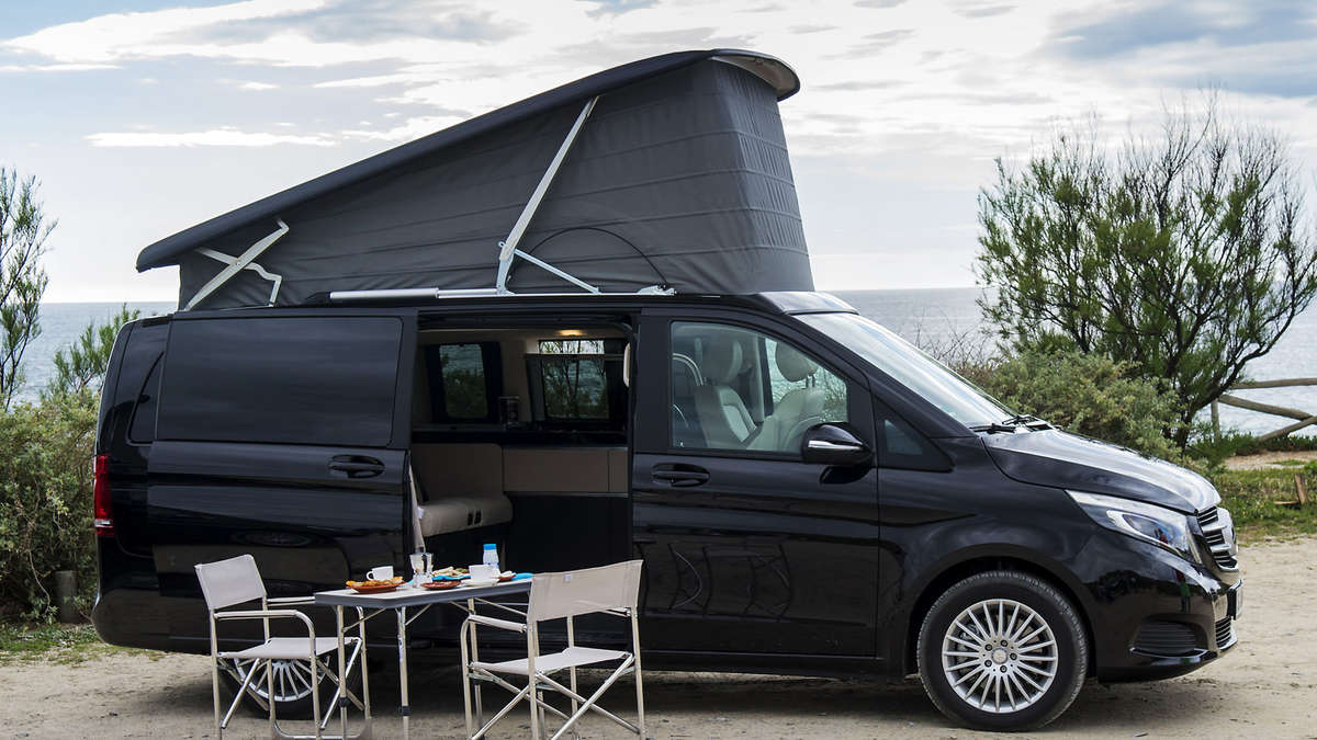 mercedes marco polo kompaktes reisemobil auf basis der v. Black Bedroom Furniture Sets. Home Design Ideas