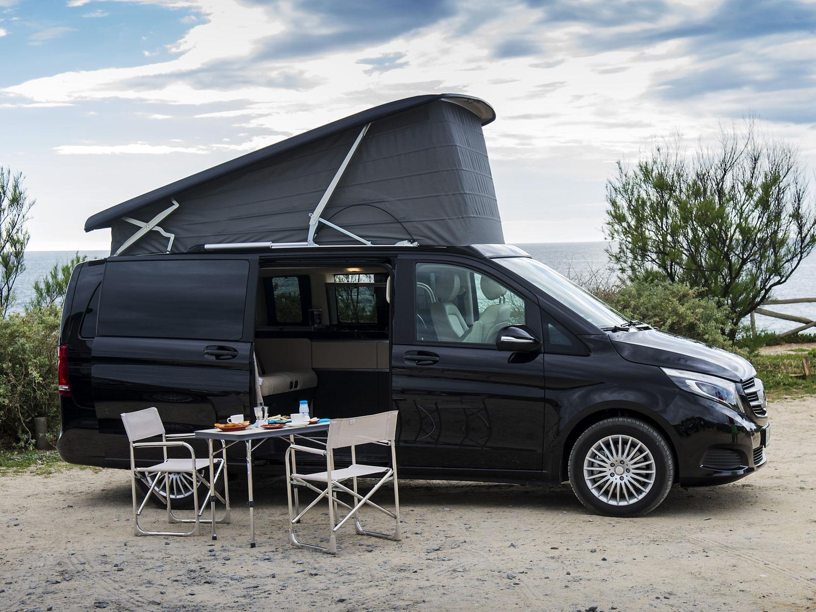 mercedes marco polo kompaktes reisemobil auf basis der v klasse auto. Black Bedroom Furniture Sets. Home Design Ideas