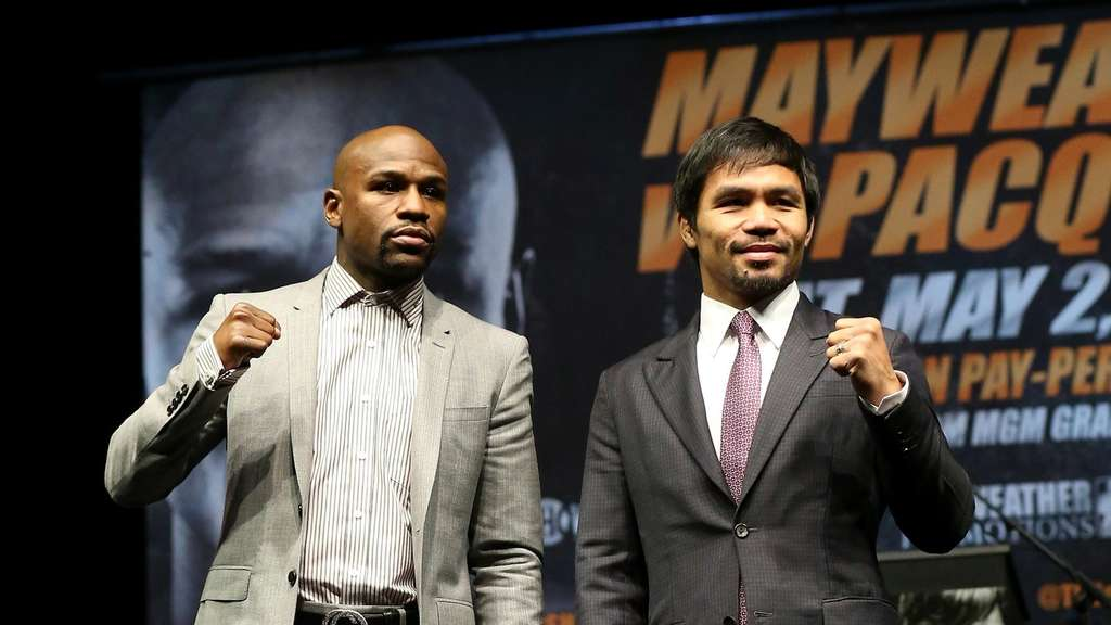Floyd Mayweather (l.) und Manny Pacquiao