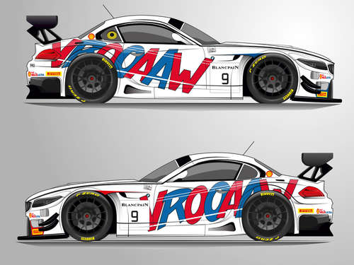 """Vrooaaw!"" BMW Z4 GT3 mit Comic-Design"