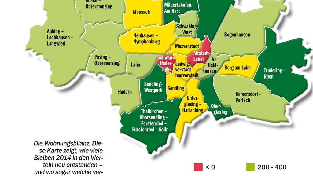 münchen stadtteile karte Stadtteil Statistik in München: Hier leben die meisten jungen