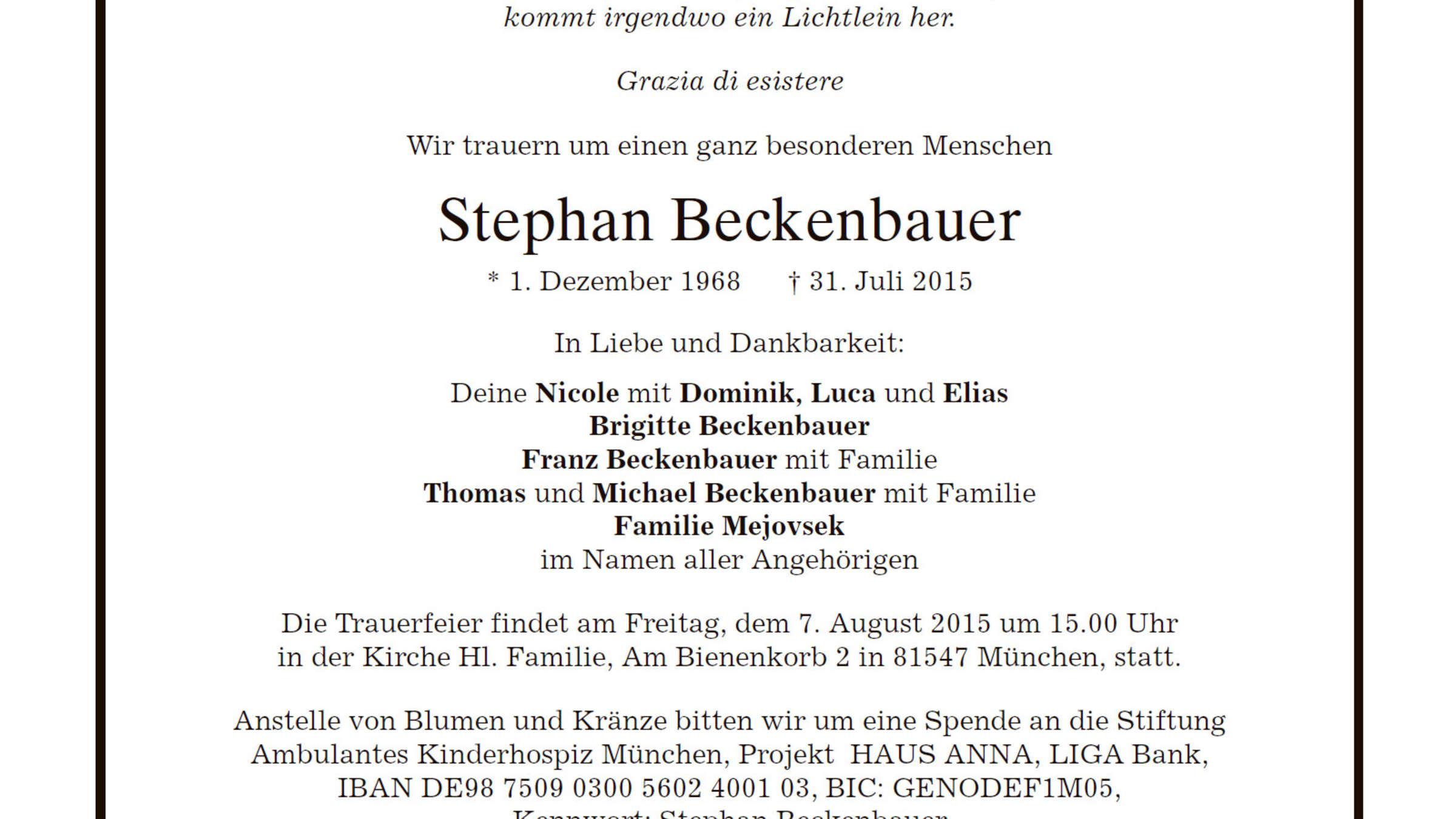 stephan beckenbauer thomas beckenbauer