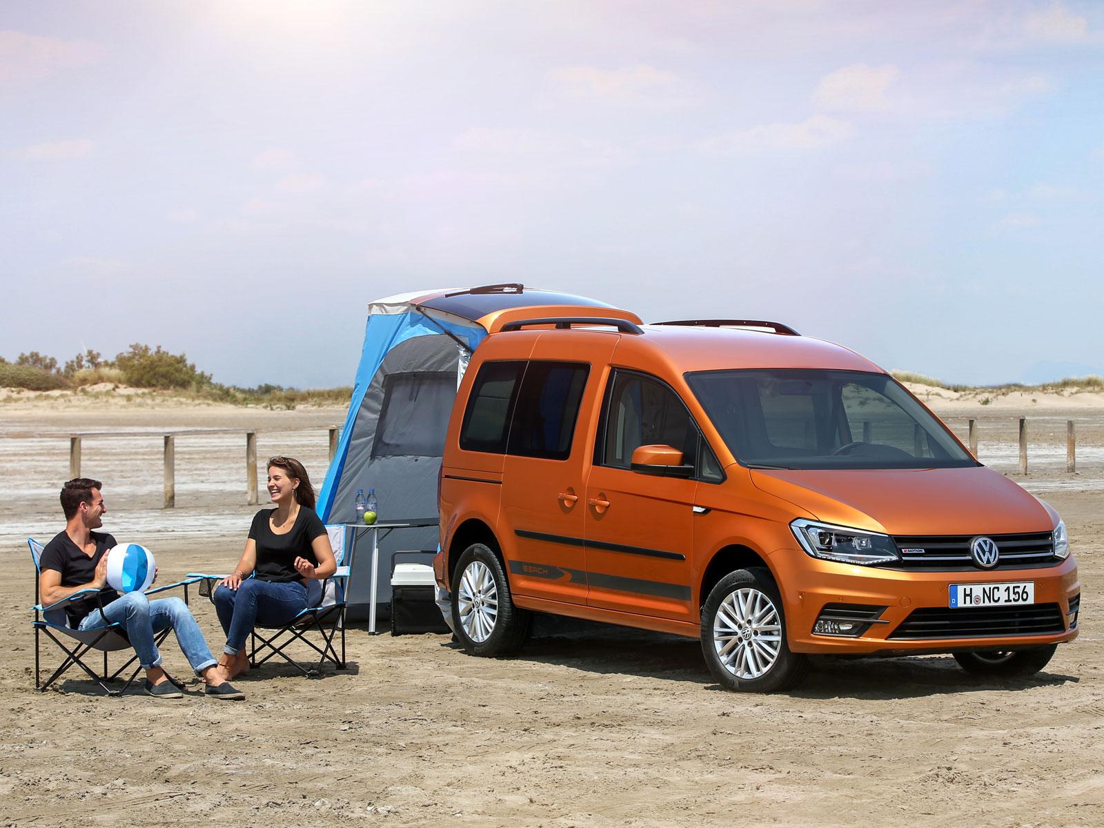 vw caddy beach reisemobil f r einen tag am meer auto. Black Bedroom Furniture Sets. Home Design Ideas