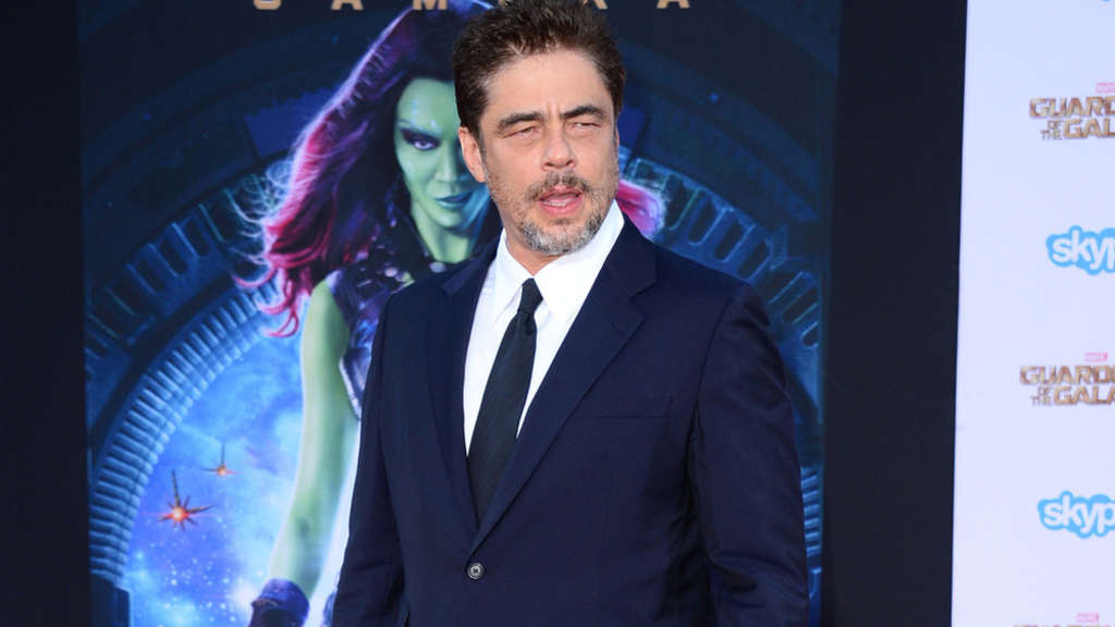 "Benicio del Toro auf der Premiere des Blockbusters ""Guardians of the Galaxy"""