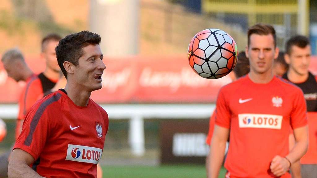 Robert Lewandowski im Polen-Training