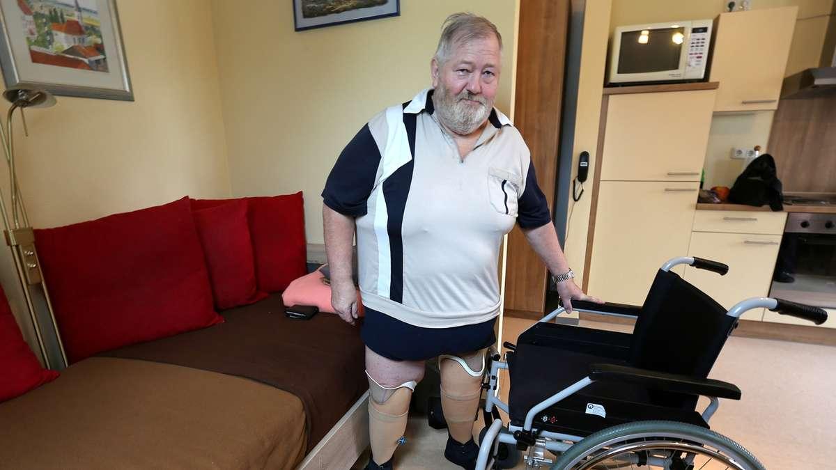 Beine amputiert - aber Kasse sagt: Er ist kein Pflegefall