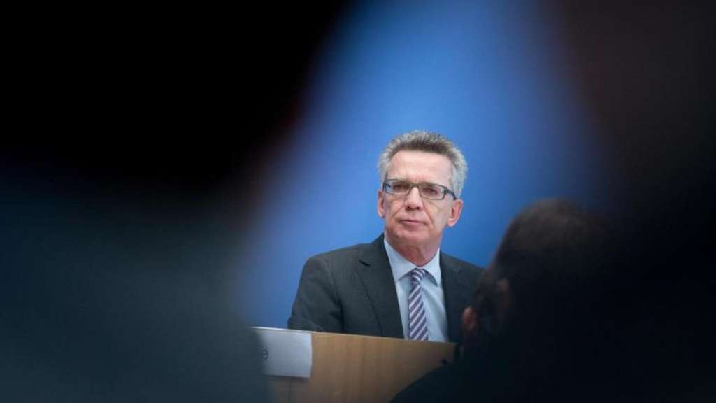 Bundesinnenminister Thomas de Maiziere in Berlin.