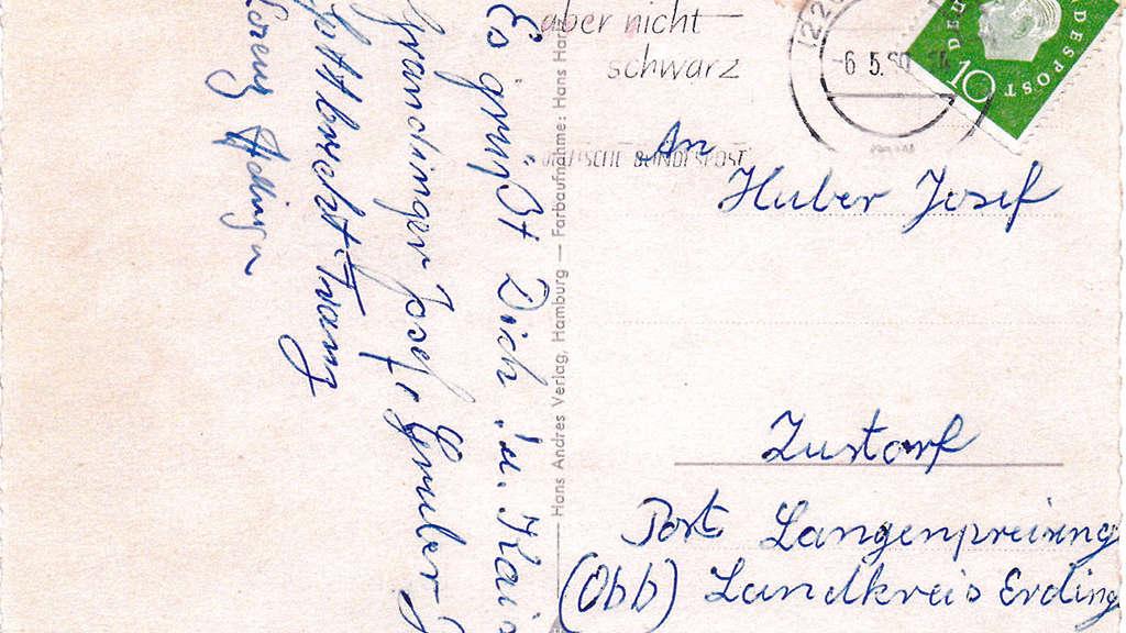Postkarte Von Monika Grubers Vater War 55 Jahre Unterwegs Region
