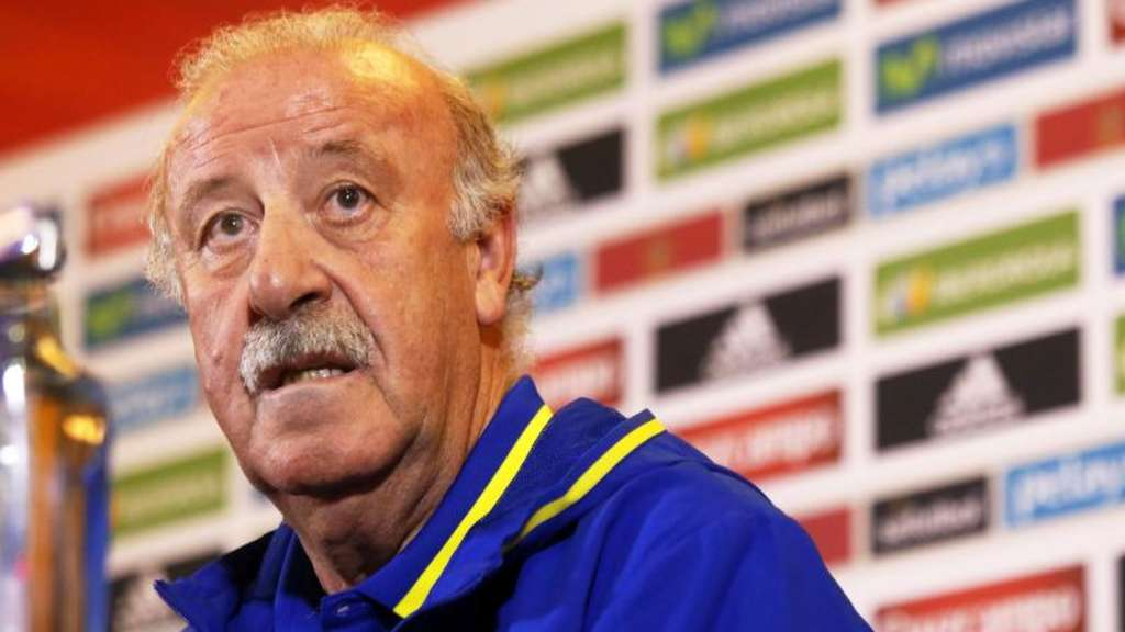 Spaniens Trainer Vicente Del Bosque