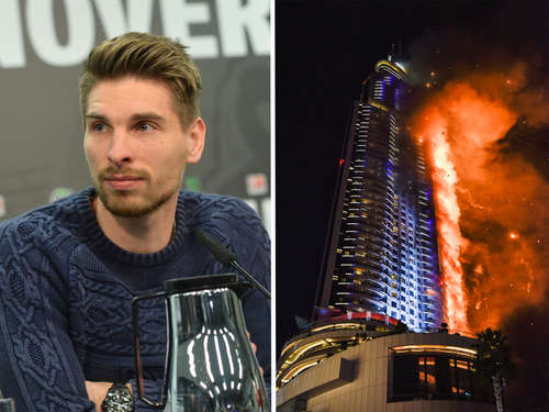 Bundesliga-Star war im Flammen-Hotel in Dubai