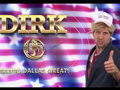 Video: Dirk Nowitzki parodiert Donald Trump